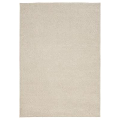 SPORUP Rug, low pile, light beige, 170x240 cm