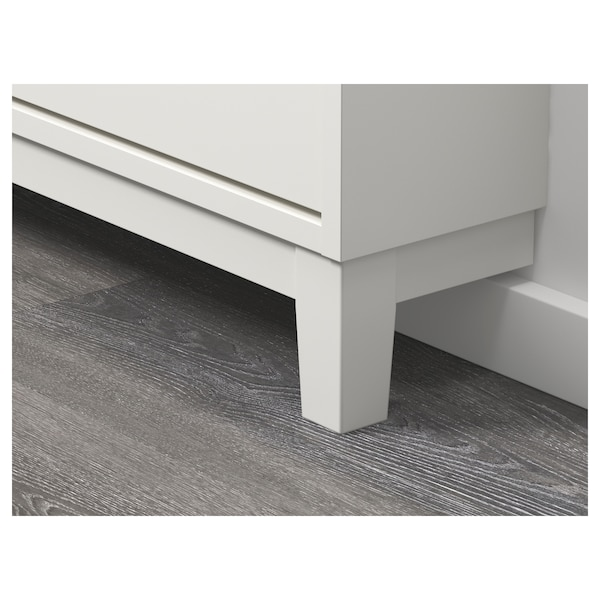 STÄLL Shoe cabinet with 4 compartments, white, 96x17x90 cm