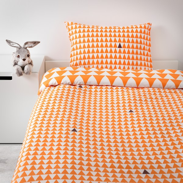 IKEA STILLSAMT Quilt cover and pillowcase