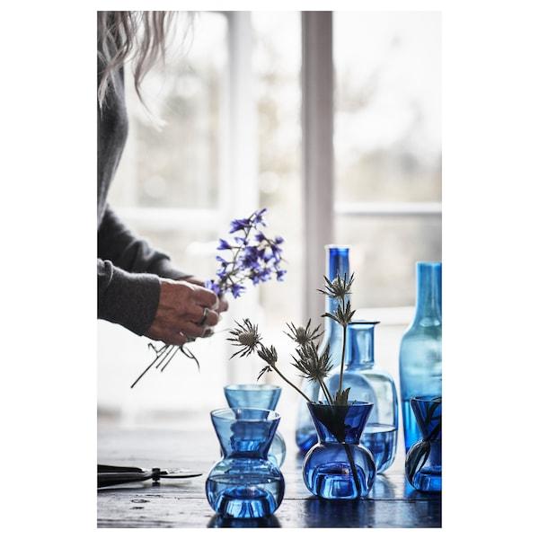 STOCKHOLM 2017 Tealight holder/vase, blue, 12 cm