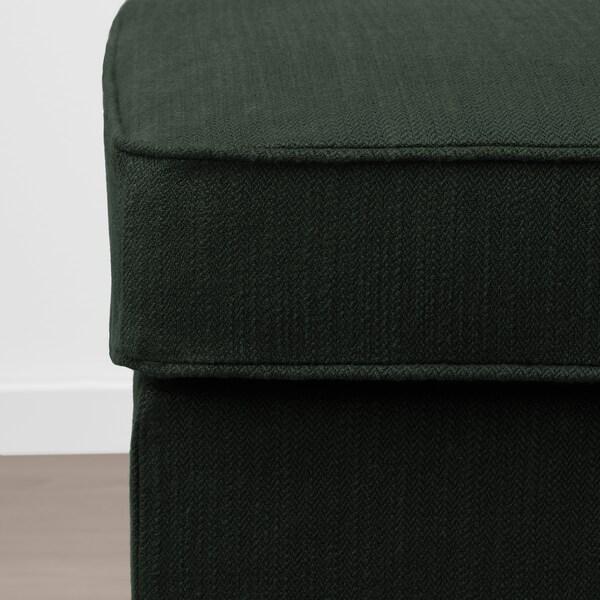 STOCKSUND Bench, Nolhaga dark green/light brown/wood