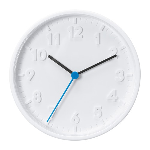 Stomma Wall Clock White 20 Cm Ikea