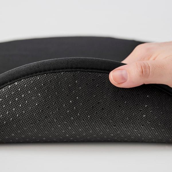 STRÅFLY Chair pad, black, 36 cm