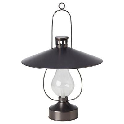 STRÅLA LED lantern, battery-operated/outdoor black