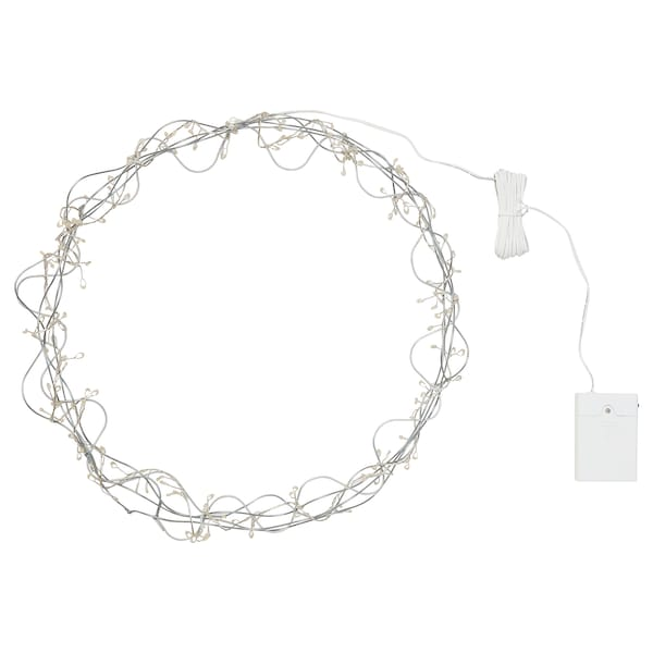 STRÅLA LED pendant lamp, battery-operated/ring shaped