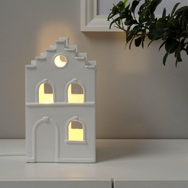STRÅLA LED table decoration, house white