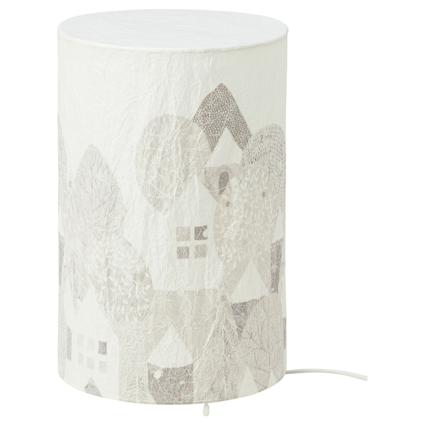 STRÅLA LED table lamp, landscape, 30 cm