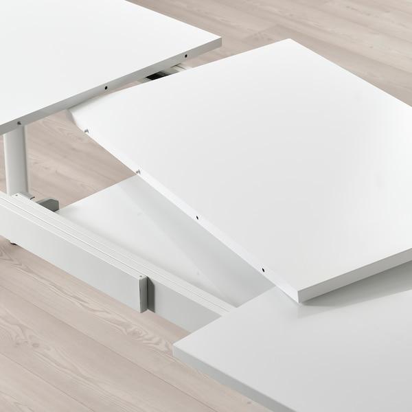STRANDTORP Extendable table, white, 150/205/260x95 cm