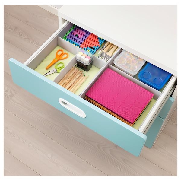 STUVA / FRITIDS chest of 3 drawers white/light blue 60 cm 50 cm 64 cm