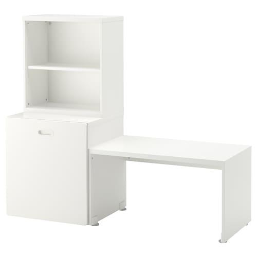 STUVA / FRITIDS table with toy storage white/white 150 cm 50 cm 128 cm