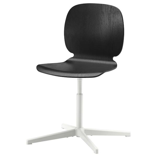 SVENBERTIL swivel chair black/Balsberget white 110 kg 69 cm 69 cm 85 cm 45 cm 42 cm 40 cm 50 cm