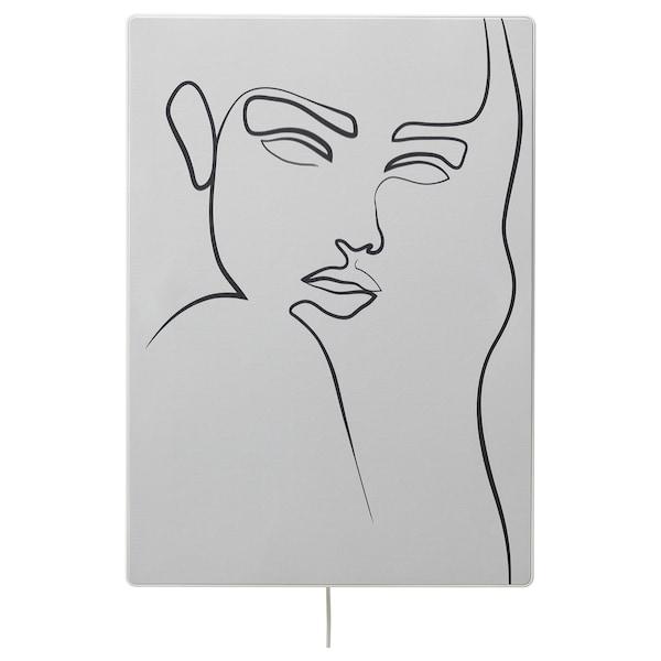 SYMFONISK Panel for picture frame speaker, linear dream - consider