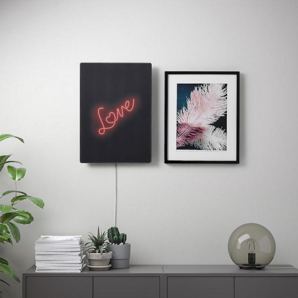 SYMFONISK Panel for picture frame speaker, neon love