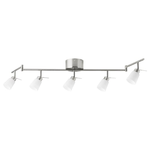 TIDIG ceiling spotlight with 5 spots nickel-plated 35 W 133 cm 22 cm 6 cm