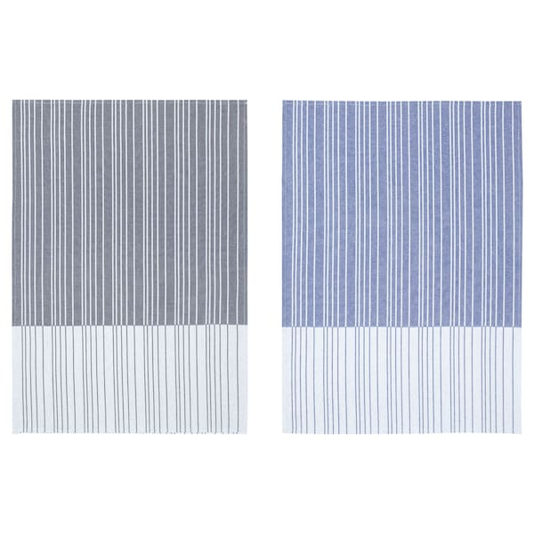 TIMVISARE tea towel dark blue/black 70 cm 50 cm 2 pack