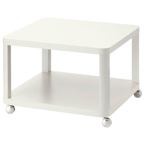 TINGBY side table on castors white 64 cm 64 cm 45 cm