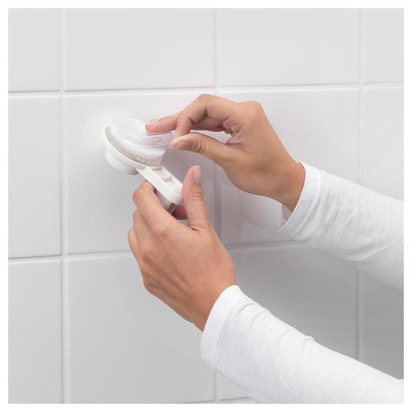 TISKEN Hand shower park bracket w suc cup, white