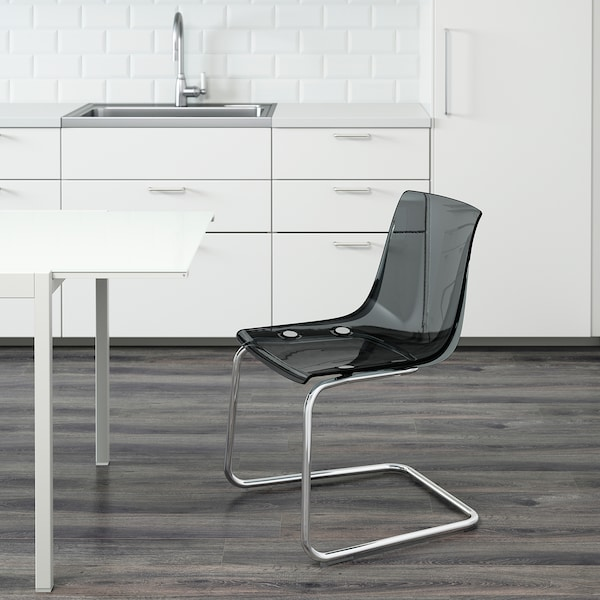 TOBIAS chair grey/chrome-plated 110 kg 55 cm 56 cm 82 cm 48 cm 46 cm 44 cm