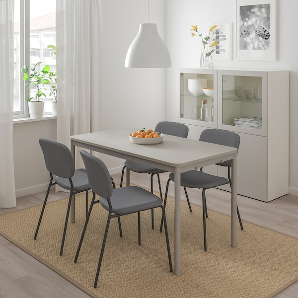 TOMMARYD Table, light grey, 130x70 cm