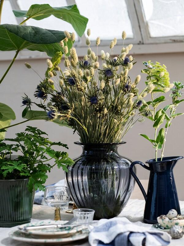 TONSÄTTA Vase, grey, 27 cm