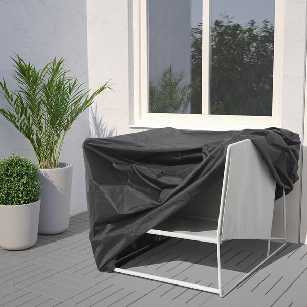 TOSTERÖ cover for outdoor furniture sofa/black 109 cm 85 cm 90 cm