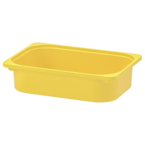 TROFAST storage box yellow 42 cm 30 cm 10 cm