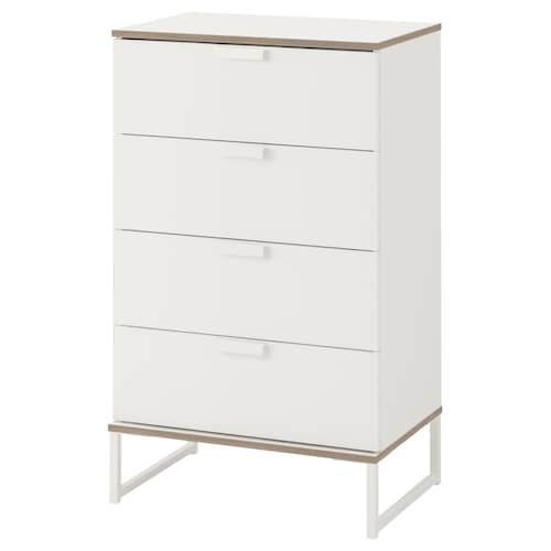 TRYSIL chest of 4 drawers white/light grey 60 cm 40 cm 99 cm 33 cm