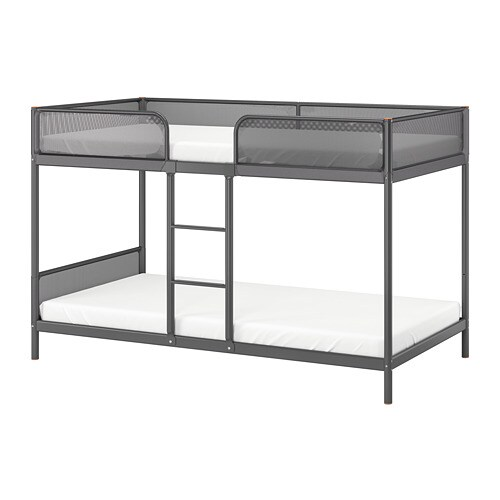 Tuffing Bunk Bed Frame Dark Grey 90 X 200 Cm Ikea