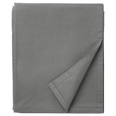 ULLVIDE Sheet, grey, 240x260 cm