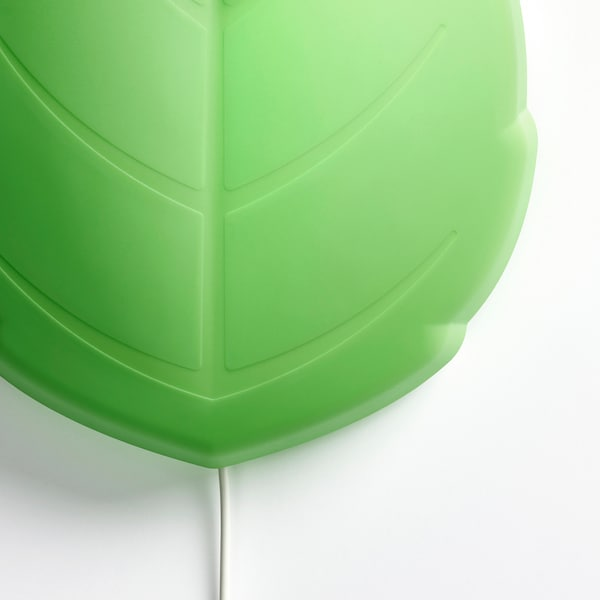 UPPLYST LED wall lamp, leaf green