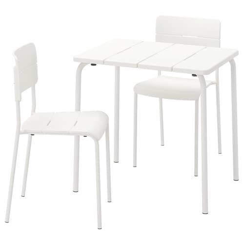 VÄDDÖ table+2 chairs, outdoor white