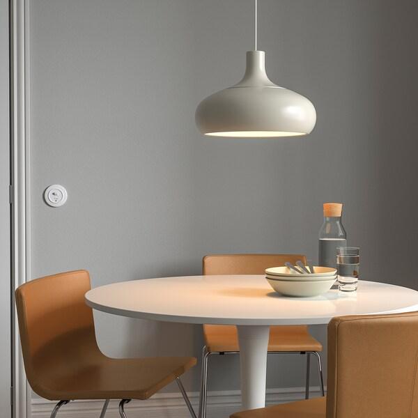 VÄXJÖ pendant lamp beige 22 W 26 cm 38 cm 1.5 m