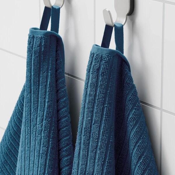 VÅGSJÖN Bath towel, blue, 70x140 cm