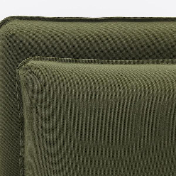 VALLENTUNA 3-seat modular sofa with storage/Orrsta/Murum olive-green/black 266 cm 84 cm 93 cm 113 cm 80 cm 100 cm 45 cm