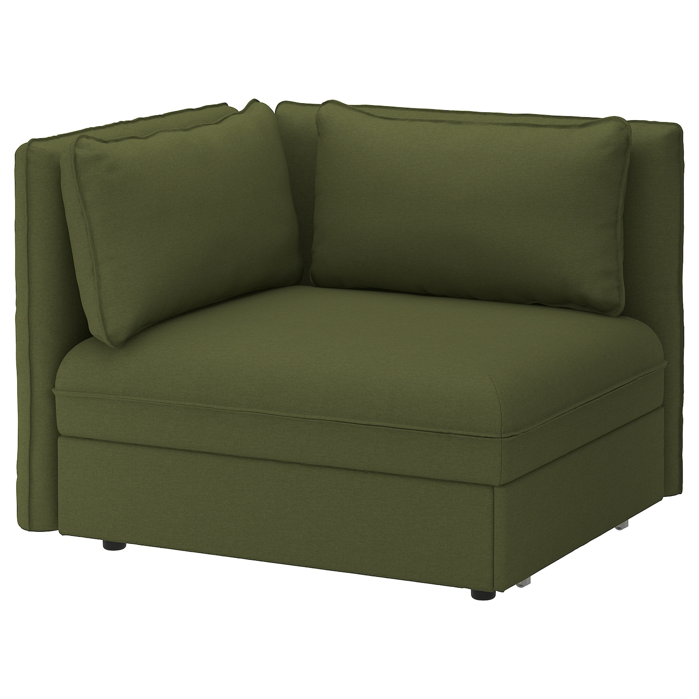 Vallentuna Sofa Bed Module With Backrests Orrsta Olive Green Ikea