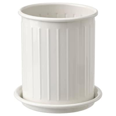VÄLVÅRDAD Cutlery stand, beige/galvanised, 13 cm