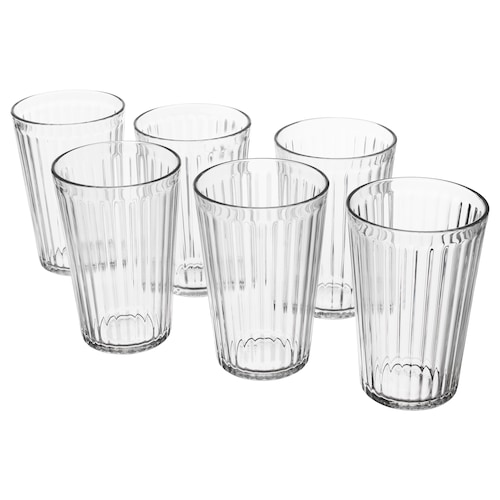 VARDAGEN glass clear glass 13 cm 43 cl 6 pack