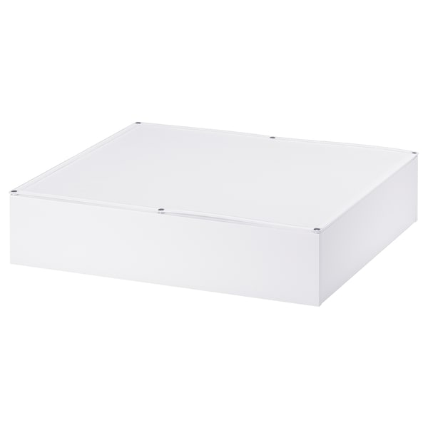 VARDÖ Bed storage box, white, 65x70 cm