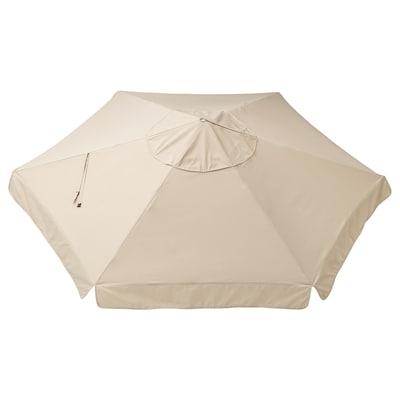 VÅRHOLMEN Parasol canopy, beige, 300 cm