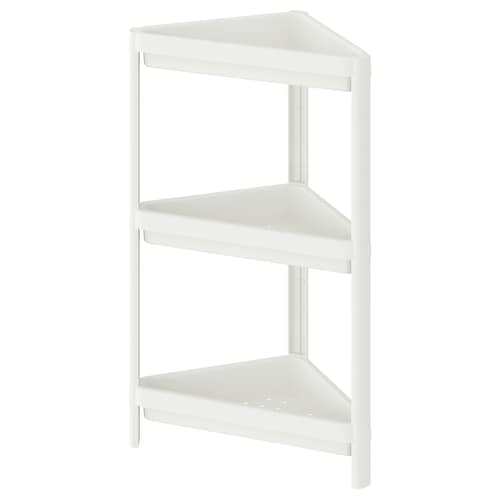 VESKEN corner shelf unit white 33 cm 33 cm 71 cm