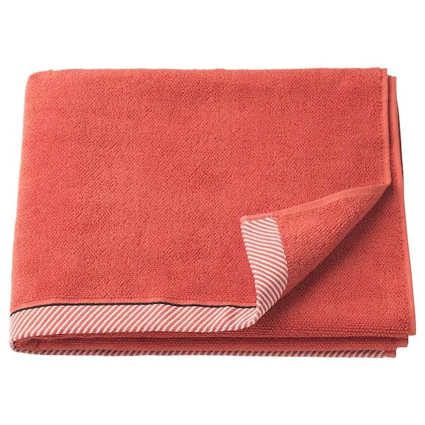 VIKFJÄRD bath towel red 140 cm 70 cm 0.98 m² 475 g/m²