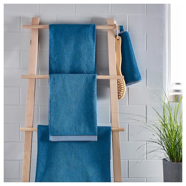 VIKFJÄRD hand towel blue 100 cm 50 cm 0.50 m² 475 g/m²
