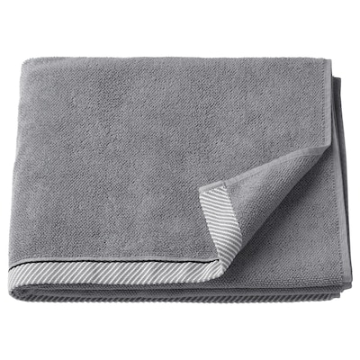 VIKFJÄRD Bath towel, grey, 70x140 cm