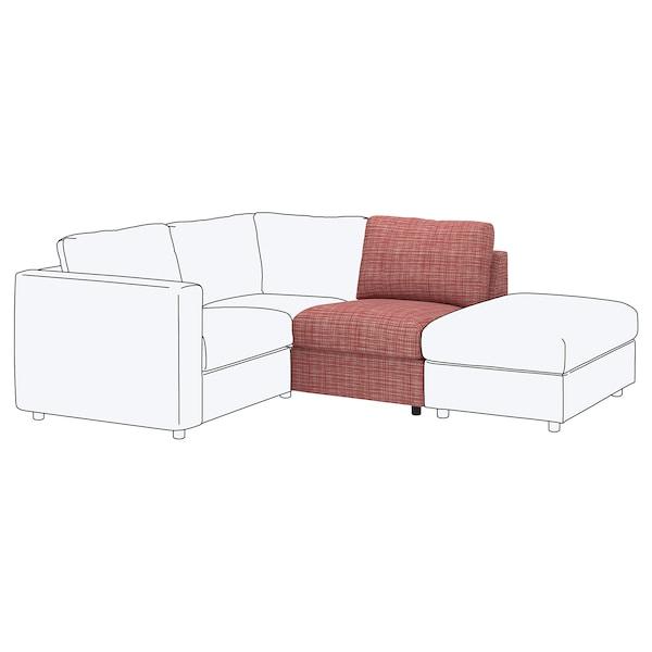 VIMLE 1-seat section Dalstorp multicolour 83 cm 68 cm 71 cm 98 cm 6 cm 71 cm 55 cm 48 cm