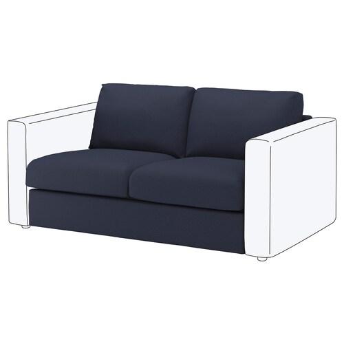 VIMLE 2-seat section Orrsta black-blue 80 cm 66 cm 141 cm 98 cm 4 cm 141 cm 55 cm 45 cm