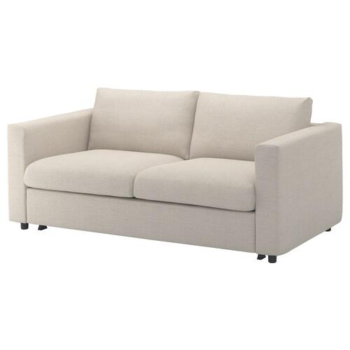 VIMLE 2-seat sofa-bed Gunnared beige 53 cm 83 cm 68 cm 190 cm 98 cm 241 cm 55 cm 48 cm 140 cm 200 cm 12 cm