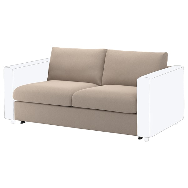 VIMLE 2-seat sofa-bed section Tallmyra beige 53 cm 83 cm 68 cm 160 cm 98 cm 241 cm 55 cm 48 cm 140 cm 200 cm 12 cm