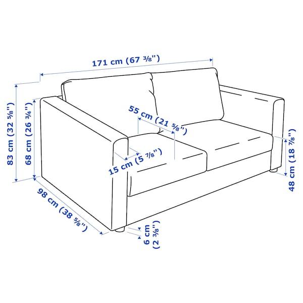 VIMLE 2-seat sofa, Hallarp grey