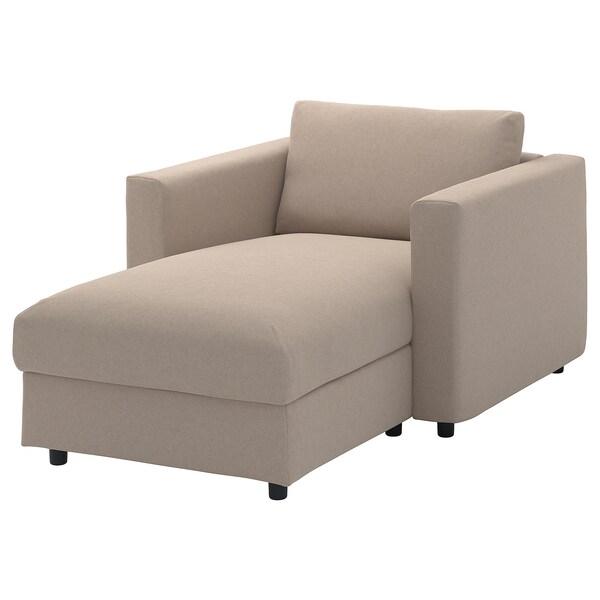 VIMLE cover for chaise longue Tallmyra beige 83 cm 68 cm 111 cm 164 cm 6 cm 81 cm 125 cm 48 cm