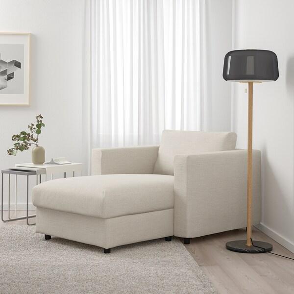 VIMLE Chaise longue Gunnared beige IKEA